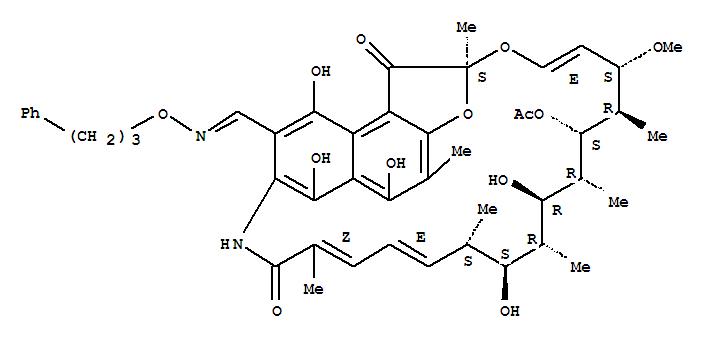 Molecular Structure of 38128-87-9 (Rifamycin,3-[[(3-phenylpropoxy)imino]methyl]- (9CI))