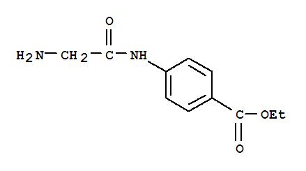 38219-44-2,Benzoic acid,4-[(2-aminoacetyl)amino]-, ethyl ester,Benzoicacid, 4-[(aminoacetyl)amino]-, ethyl ester (9CI); Glycylbenzocaine; JK 23;N-Glycyl-p-aminobenzoic acid ethyl ester