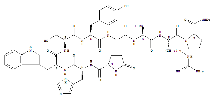 Molecular Structure of 38234-21-8 (Fertirelin)