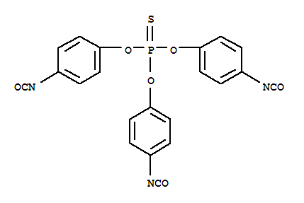 Molecular Structure of 4151-51-3 (Phenol, 4-isocyanato-,1,1',1''-phosphorothioate)