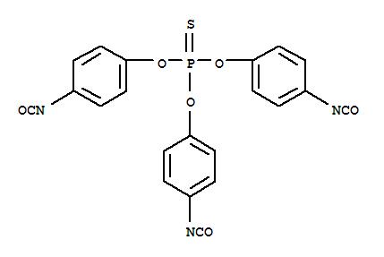 4151-51-3,Phenol, 4-isocyanato-,1,1',1''-phosphorothioate,Isocyanicacid, p-hydroxyphenyl ester, phosphorothioate (3:1) (ester) (8CI);Phosphorothioic acid,O,O,O-tris(p-isocyanatophenyl) ester (7CI);Thiophosphoric acidtris(p-isocyanatophenyl ester);Tris(p-isocyanatophenyl)monosulfophosphate;