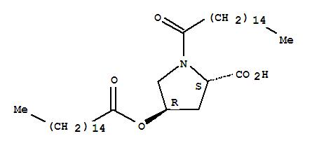 Molecular Structure of 41672-81-5 (L-Proline,1-(1-oxohexadecyl)-4-[(1-oxohexadecyl)oxy]-, (4R)-)