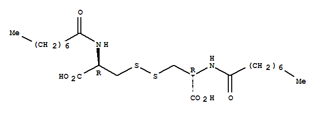 Molecular Structure of 41760-23-0 (L-Cystine,N,N'-bis(1-oxooctyl)-)