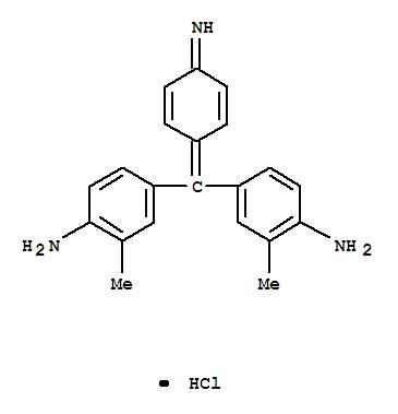 Molecular Structure of 4197-24-4 (Benzenamine,4-[(4-amino-3-methylphenyl)(4-imino-2,5-cyclohexadien-1-ylidene)methyl]-2-methyl-,hydrochloride (1:1))