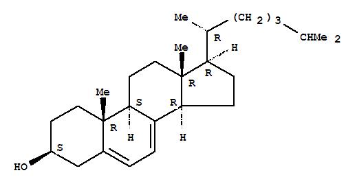 Molecular Structure of 434-16-2 (Cholesta-5,7-dien-3-ol,(3b)-)