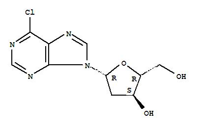 Molecular Structure of 4594-45-0 (9H-Purine, 6-chloro-9-(2-deoxy-b-D-erythro-pentofuranosyl)-)