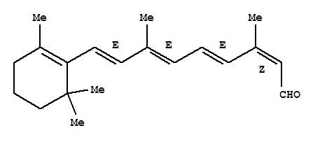 Molecular Structure of 472-86-6 (Retinal, 13-cis-)