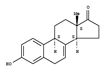 Molecular Structure of 474-86-2 (Estra-1,3,5(10),7-tetraen-17-one,3-hydroxy-)