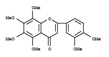 478-01-3,4H-1-Benzopyran-4-one,2-(3,4-dimethoxyphenyl)-5,6,7,8-tetramethoxy-,Flavone,3',4',5,6,7,8-hexamethoxy- (7CI,8CI);Nobiletin (6CI);2-(3,4-Dimethoxyphenyl)-5,6,7,8-tetramethoxy-4H-1-benzopyran-4-one;3',4',5,6,7,8-Hexamethoxyflavone;5,6,7,8,3',4'-Hexamethoxyflavone;NSC 618903;NSC 76751;Nobiletin;