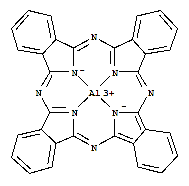 Aluminium phthalocyanine supplier casno47822 79 7 molecular structure molecular structure of 47822 79 7 aluminum1 ccuart Image collections