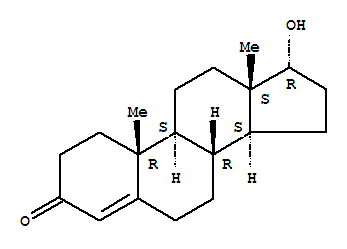 Molecular Structure of 481-30-1 (Androst-4-en-3-one,17-hydroxy-, (17a)-)