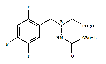 Molecular Structure of 486460-00-8 (Boc-(R)-3-Amino-4-(2,4,5-trifluorophenyl)butanoic acid)