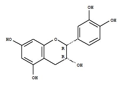 Molecular Structure of 490-46-0 (2H-1-Benzopyran-3,5,7-triol,2-(3,4-dihydroxyphenyl)-3,4-dihydro-, (2R,3R)-)