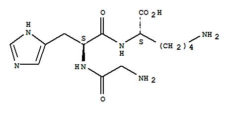 49557-75-7,L-Lysine,glycyl-L-histidyl-,L-Lysine,N2-(N-glycyl-L-histidyl)-;Glycyl-L-histidyl-L-lysine;Growth-modulating peptide (human);Liver cell growthfactor;Liver growth factor;NSC 379527;