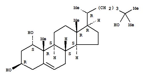 Molecular Structure of 50392-32-0 (Cholest-5-ene-1,3,25-triol,(1a,3b)-)