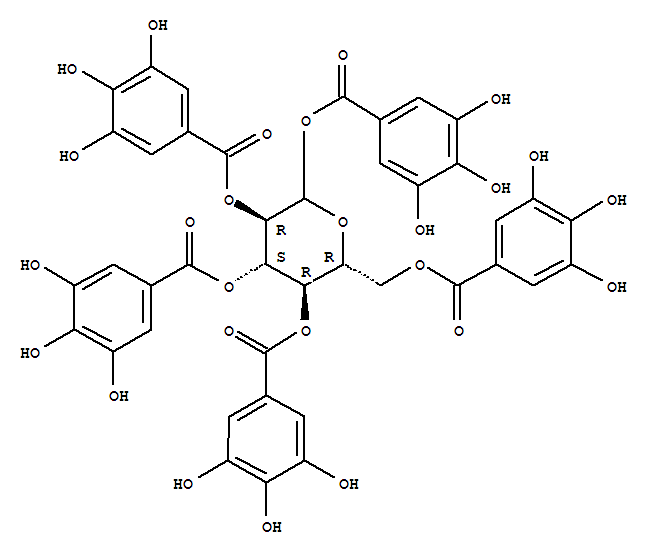 L Glucopyranose 1,2,3,4,6-Pentagalloyl...