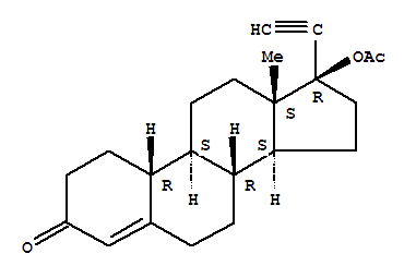 Molecular Structure of 51-98-9 (19-Norethindrone acetate)