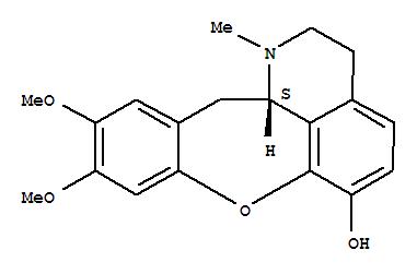 5140-50-1,1H-[1]Benzoxepino[2,3,4-ij]isoquinolin-6-ol,2,3,12,12a-tetrahydro-9,10-dimethoxy-1-methyl-, (12aS)-,1H-[1]Benzoxepino[2,3,4-ij]isoquinolin-6-ol,2,3,12,12a-tetrahydro-9,10-dimethoxy-1-methyl-, (S)-; Cularidine (7CI,8CI);(+)-Cularidine
