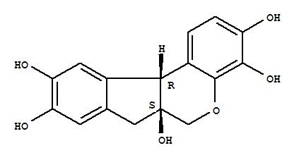 Molecular Structure of 517-28-2 (Hematoxylin)