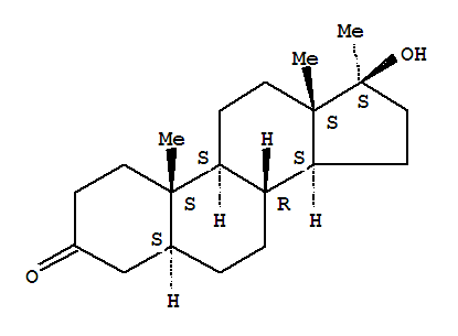 Molecular Structure of 521-11-9 (Androstan-3-one,17-hydroxy-17-methyl-, (5a,17b)-)
