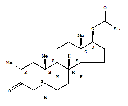 Androstan-3-one,2-methyl-17-(1-oxopropoxy)-, (2a,5a,17b)- product picture