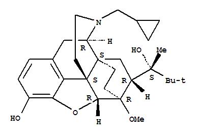 Molecular Structure of 52485-79-7 (6,14-Ethenomorphinan-7-methanol,17-(cyclopropylmethyl)-a-(1,1-dimethylethyl)-4,5-epoxy-18,19-dihydro-3-hydroxy-6-methoxy-a-methyl-, (aS,5a,7a)-)