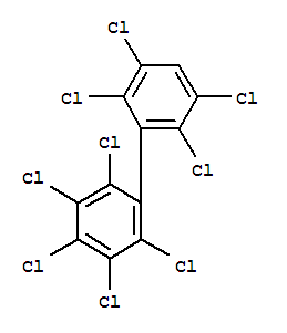 Molecular Structure of 52663-77-1 (2,2',3,3',4,5,5',6,6'-Nonachlorobiphenyl)