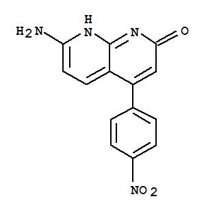53734-90-0,1,8-Naphthyridin-2(1H)-one,7-amino-4-(4-nitrophenyl)-,NSC 268477