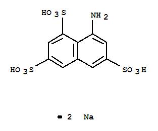 CAS NO:5398-34-5 1,3,6-Naphthalenetrisulfonicacid, 8-amino-, sodium salt (1:2) Molecular Structure