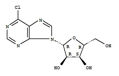 Molecular Structure of 5399-87-1 (9H-Purine, 6-chloro-9-b-D-ribofuranosyl-)