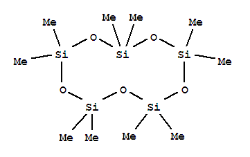 Molecular Structure of 541-02-6 (Cyclopentasiloxane,2,2,4,4,6,6,8,8,10,10-decamethyl-)