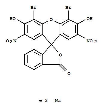 Molecular Structure of 548-24-3 (Spiro[isobenzofuran-1(3H),9'-[9H]xanthen]-3-one,4',5'-dibromo-3',6'-dihydroxy-2',7'-dinitro-, sodium salt (1:2))