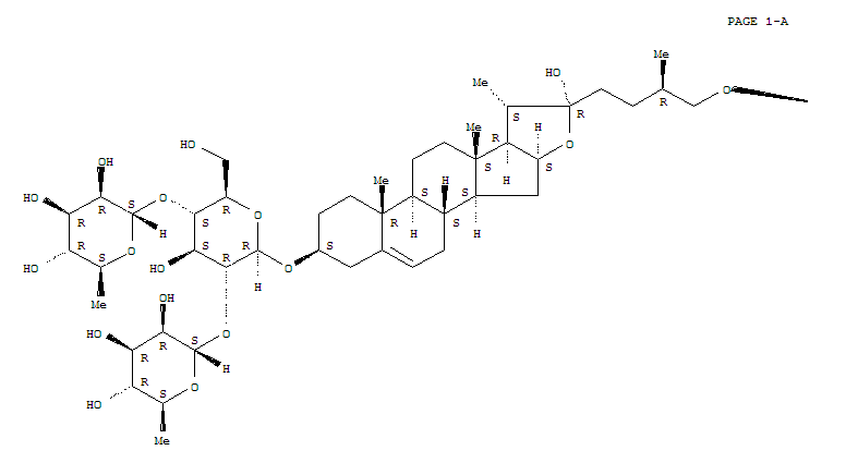 Molecular Structure of 55056-80-9 (Protodioscin)
