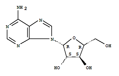 Molecular Structure of 5536-17-4 (9H-Purin-6-amine, 9-beta-D-arabinofuranosyl-)