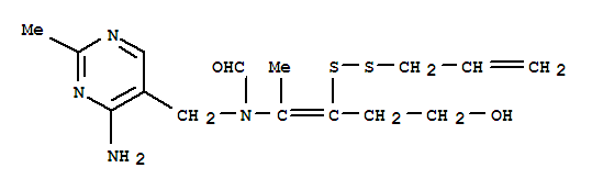 Molecular Structure of 554-44-9 (Formamide,N-[(4-amino-2-methyl-5-pyrimidinyl)methyl]-N-[4-hydroxy-1-methyl-2-(2-propen-1-yldithio)-1-buten-1-yl]-)