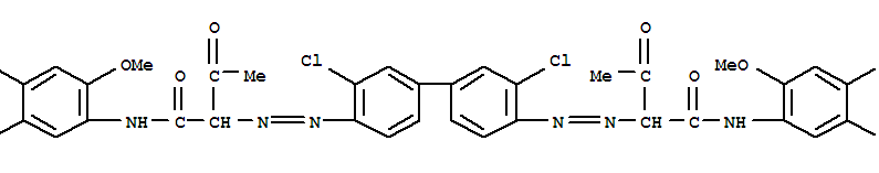 Molecular Structure of 5567-15-7 (Pigment Yellow 83)