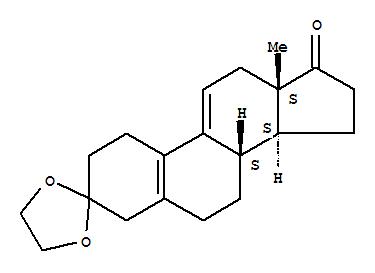 5571-36-8,Estradiene dione-3-keta,Estra-5(10),9(11)-diene-3,17-dione,cyclic 3-(ethylene acetal) (7CI,8CI);Spiro[3H-cyclopenta[a]phenanthrene-3,2'-[1,3]dioxolane],estra-5(10),9(11)-diene-3,17-dione deriv.;3,3-(Ethylenedioxy)estra-5(10),9(11)-dien-17-one;Estra-5(10),9(11)-diene-3,17-dione,cyclic 3-(1,2-ethanediyl acetal);