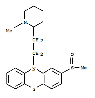 Molecular Structure of 5588-33-0 (10-(2-(1-Methyl-2-piperidyl)ethyl)-2-methylsulfinyl phenothiazine)
