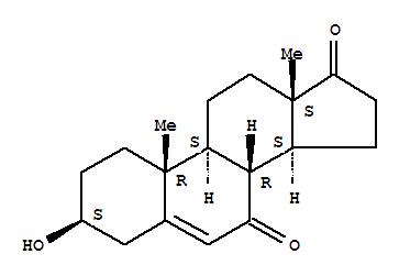 Molecular Structure of 566-19-8 (7-Keto-dehydroepiandrosterone)