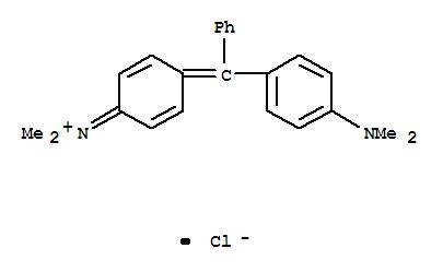 Molecular Structure of 569-64-2 (Methanaminium,N-[4-[[4-(dimethylamino)phenyl]phenylmethylene]-2,5-cyclohexadien-1-ylidene]-N-methyl-,chloride (1:1))