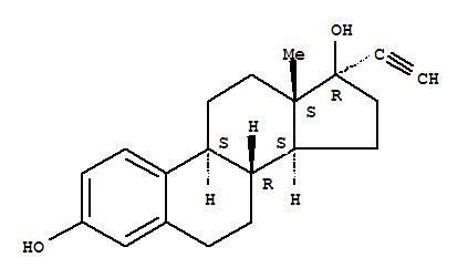 Molecular Structure of 57-63-6 (Ethynyl estradiol)