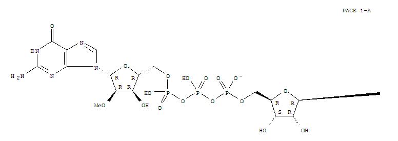 57718-00-0,Guanosine5'-(tetrahydrogen triphosphate), 2'-O-methyl-, P''®5'-ester with 7-methylguanosine, inner salt (9CI),Guanosine5'-(tetrahydrogen triphosphate), 2'-O-methyl-, P''®5'-ester with 2-amino-6,9-dihydro-7-methyl-6-oxo-9-b-D-ribofuranosyl-1H-purinium,inner salt