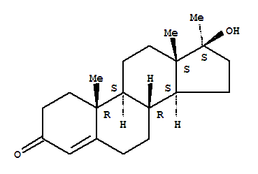 Molecular Structure of 58-18-4 (17-Methyltestosterone)