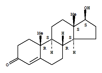 Molecular Structure of 58-22-0 (Testosterone)