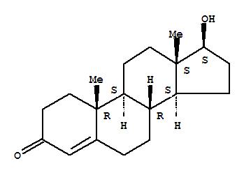Molecular Structure of 58-22-0 (Testosterone)