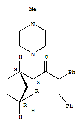 58311-39-0,4,7-Methano-1H-inden-1-one,3a,4,5,6,7,7a-hexahydro-7a-(4-methyl-1-piperazinyl)-2,3-diphenyl-, (3aa,4b,7b,7aa)- (9CI),