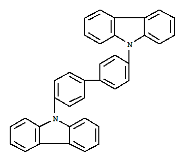 Molecular Structure of 58328-31-7 (9H-Carbazole,9,9'-[1,1'-biphenyl]-4,4'-diylbis-)
