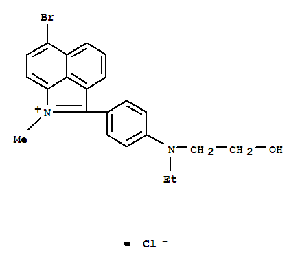 58441-54-6,Benz[cd]indolium,6-bromo-2-[4-[ethyl(2-hydroxyethyl)amino]phenyl]-1-methyl-, chloride (1:1),Benz[cd]indolium,6-bromo-2-[4-[ethyl(2-hydroxyethyl)amino]phenyl]-1-methyl-, chloride (9CI)