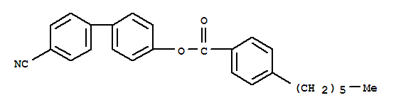 Molecular Structure of 59443-81-1 (Benzoic acid, 4-hexyl-,4'-cyano[1,1'-biphenyl]-4-yl ester)