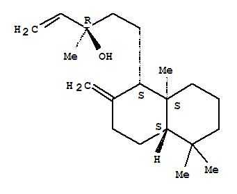 Molecular Structure of 596-85-0 (1-Naphthalenepropanol, a-ethenyldecahydro-a,5,5,8a-tetramethyl-2-methylene-,(aR,1S,4aS,8aS)-)